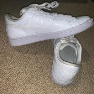White Nike sneakers